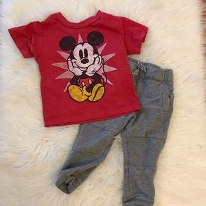 Other - Mickey Mouse Tee & Motto Jogger Sweat Pants 18M